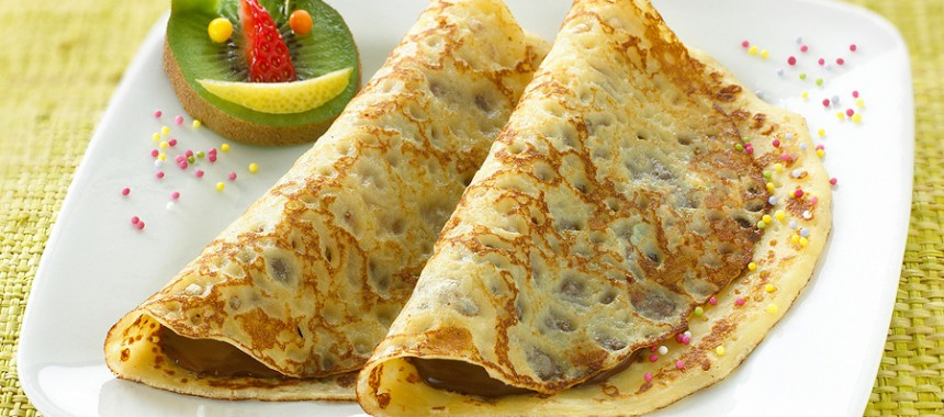 Sweet filled fluffy crepes