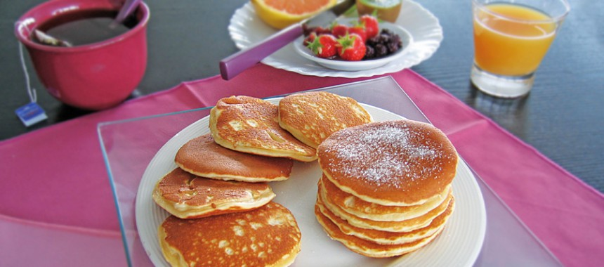 Sweetened butter pancakes